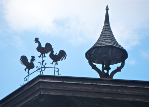 Kitzbuhel wind vanes on farmer's house