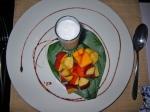 Coconut dessert Saffron Restaurant