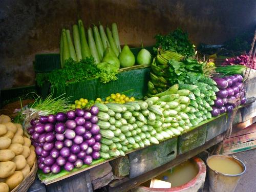 Vegetable stall Kolkata