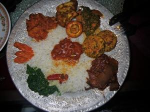 Kashmiri lunch platter