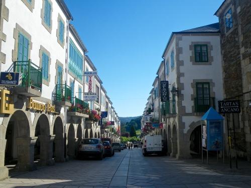 Pedestrian street in Portomarin