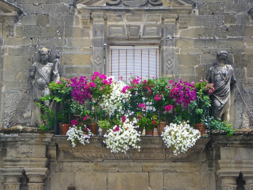 Decorated window in Úbeda