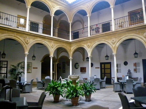 Covered courtyard in Úbeda Parador Hotel