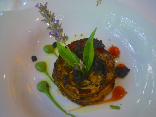 Grilled vegetables with truffle and lavender