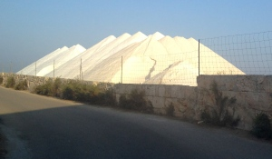Salt heaps at Flor de Sel