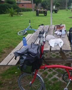 Picnic spot along Camino