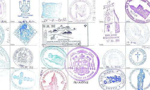 Pilgrim's stamps