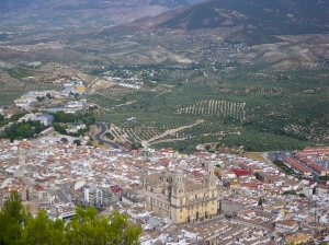 View of Jaen from our Parador Hotel