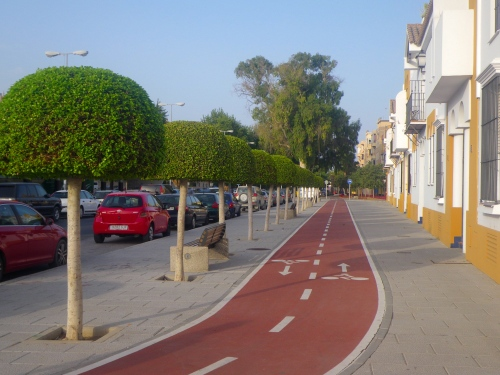 Cycle path in Jerez de la Fronterra