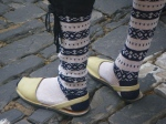 Traditional socks and shoes in Menorca