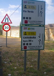 Via Verde outside Madrid
