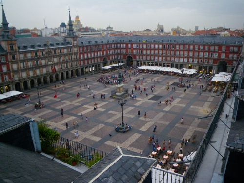 Our view over Plaza Major