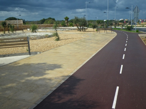 Cycle path between St Lluis  and Maó