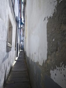 Narrowest street in Santiago