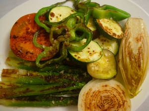 Grilled vegetables in Segovia