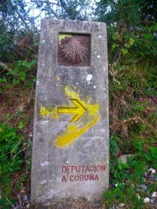 Camino marker