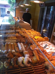 Big variety of breads and pastries in even small bakeries