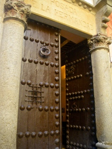 Studded door in Toledo