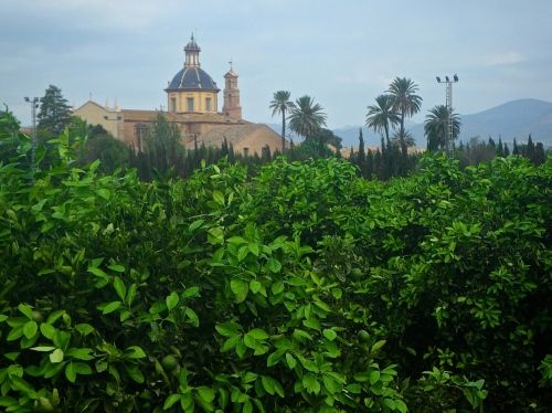 Monastery in an orange grove