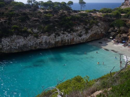 Stunning swimming cove in a nature reserve on Mallorca