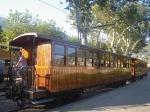Wooden antique train in Sóller