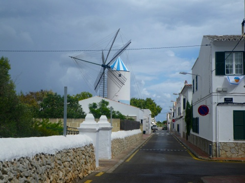 Quiet town of St. Lluis on Menorca